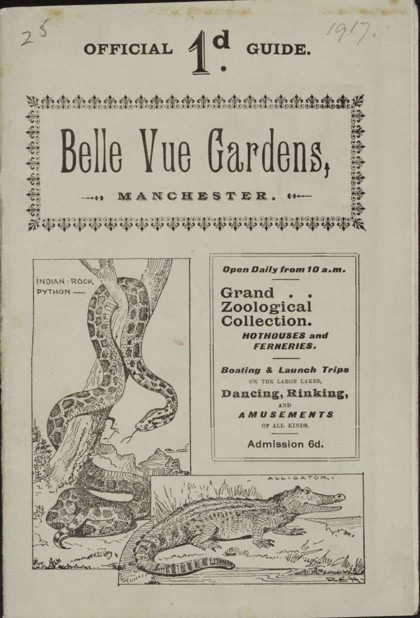 Bell Vue Gardens - Guide Cover - 1917