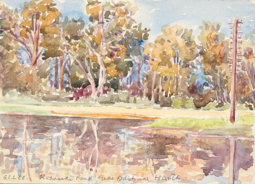 G L Lee - Roadside Pond near Oldham