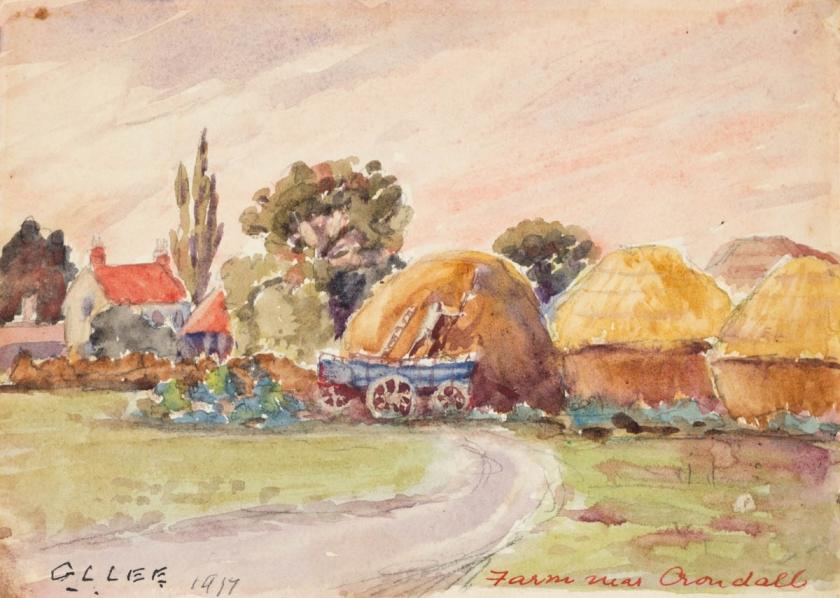 Lincoln Lee - Farm near Crondall - nd 1917