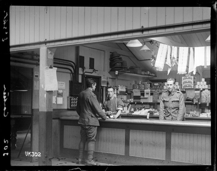 Canteen at NZ Artillery camp, Ewshot (c1918) Natlib 1-2-014106-G