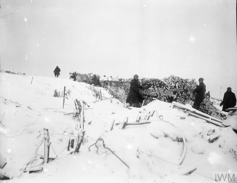 IWM Q 9804 Canadian Artillery 8 January 1918 near Ypres