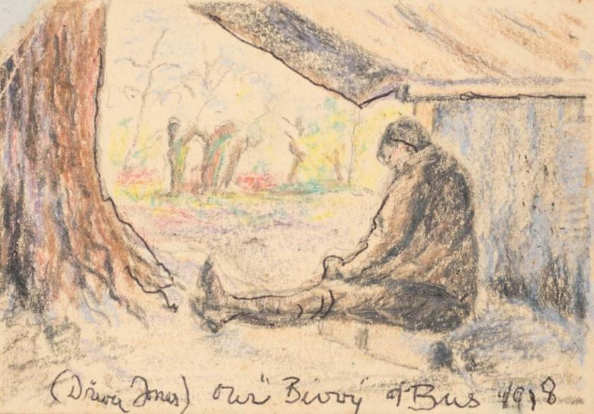 Lincoln Lee sketch - Driver Jones - Our Bivvy of Bus 1918