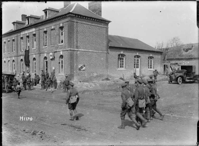 nlnzimage 1-2 013718-G Field Ambulance at Louvencourt, 22 April 1918