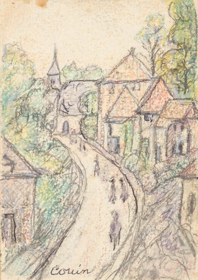 Lincoln Lee, Couin in crayon, July 1918