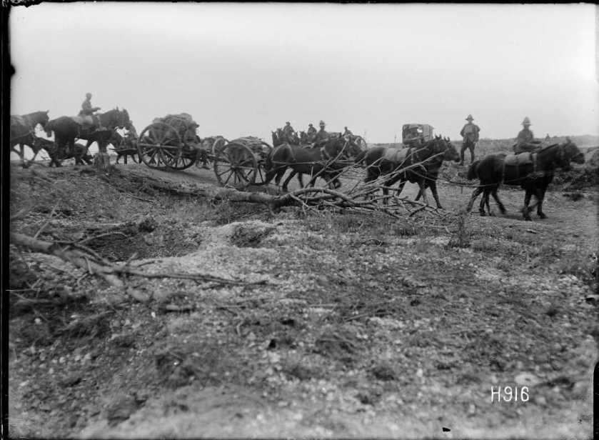 nlnzimage 1-2 013492-G NZ Battery advancing, 24 Aug 1918