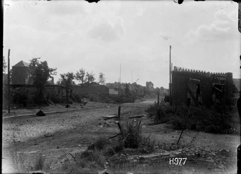 nlnzimage 1-2 013546-G General view of Bapaume after NZ troops capture it, 29 August 1918