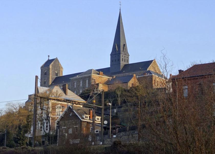 Lobbes - contemporary photograph of church