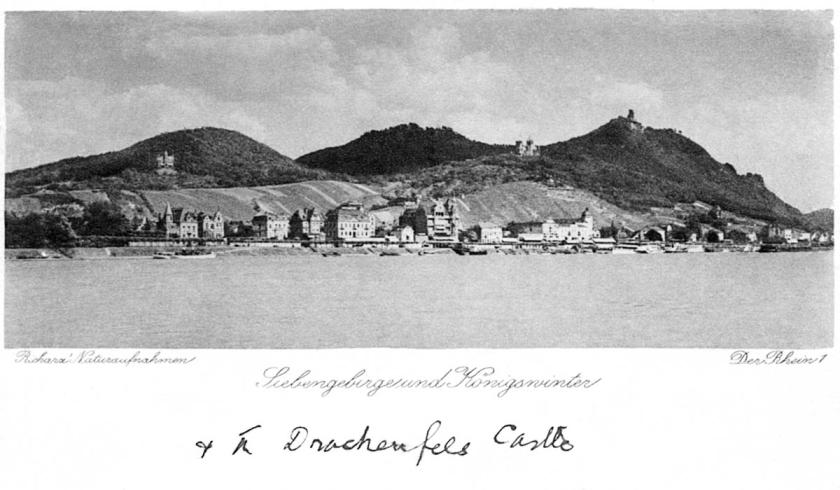 postcard - konigswinter - drachenfels castle