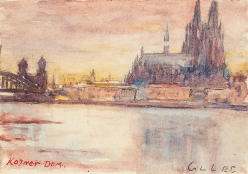 sketch by lincoln lee - cologn dom - january 1918