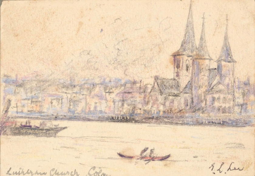 sketch by lincoln lee - lutheran church, cologne, 11 jan 1919