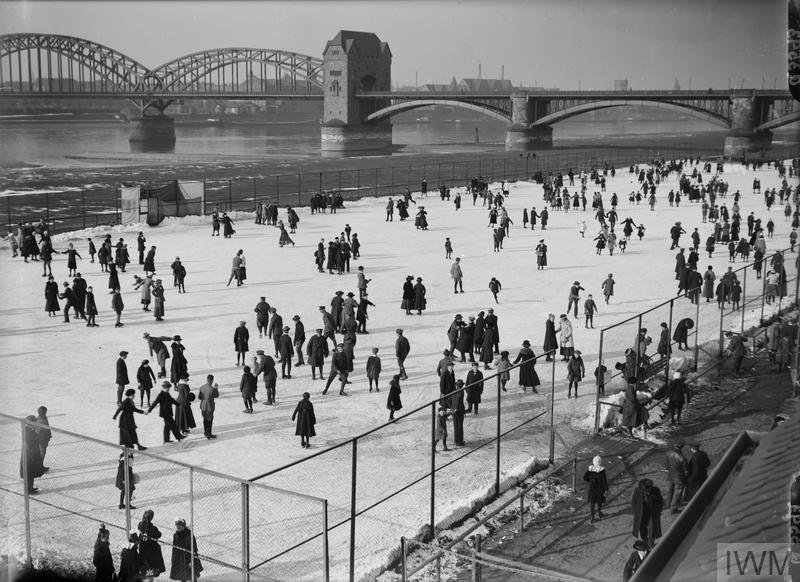 IWM (Q 3593) Skating at Cologne, 10 February 1919