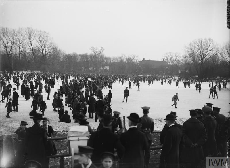 IWM (Q 3595) Skating at Cologne, 10 February 1919