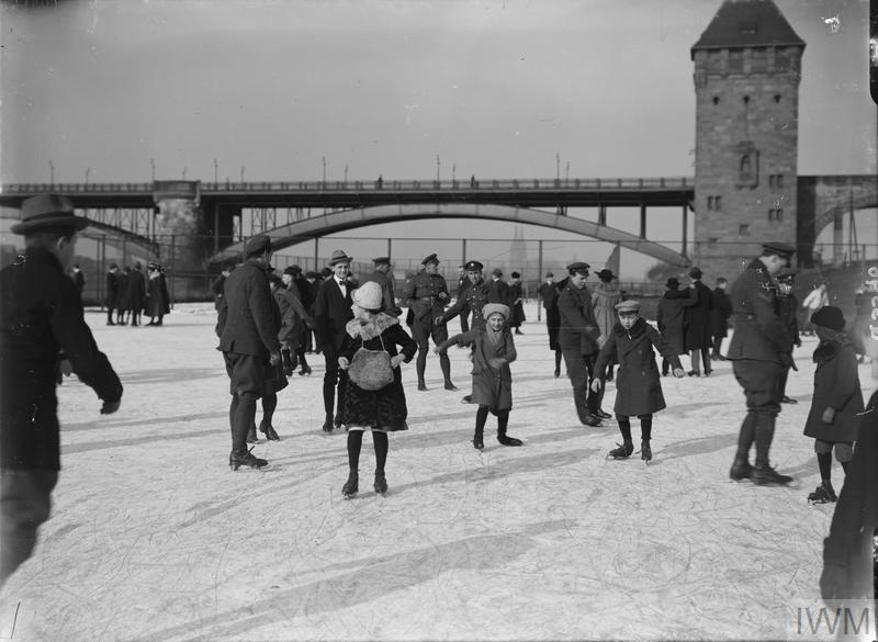 IWM (Q 3596) Skating at Cologne, 10 February 1919