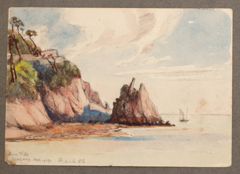 Lincoln Lee, Low tide, Torquay, March 1919