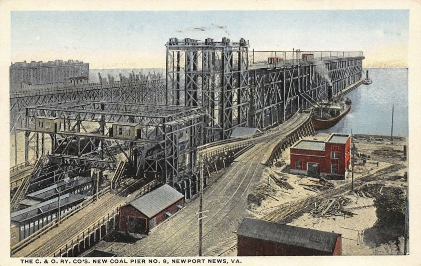 Coal Pier - Newport News - Postcard
